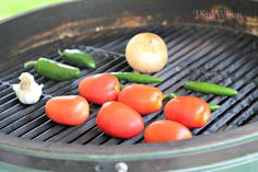 Make your own fire-roasted salsa by grilling veggies, then pureeing with spices. -Momo