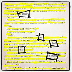 Significant Search: Make Black Out Poetry, Black Out Poetry, Poetry