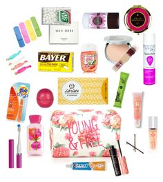 """""""Girl's Emergency Kit for School"""" by simplyshelbie on Polyvore featuring beauty, Forever 21, River Island, It Cosmetics, Maybelline, Bobbi Brown Cosmetics, Lancôme, Lavanila, Goody and Violight"""