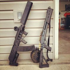Saiga 12 guage and a remington 800. Different...but coolLoading that magazine is a pain! Get your Magazine speedloader today! http://www.amazon.com/shops/raeind