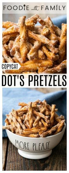 This copycat Dot s Pretzels recipe is crazy good and just like the original at a fraction of the price Savoury delicious habit-forming and oh-so-easy via foodiewithfam Snack Mix Recipes, Appetizer Recipes, Appetizers, Cooking Recipes, Snack Mixes, Fondue Recipes, Pie Recipes, Salty Snacks, Yummy Snacks