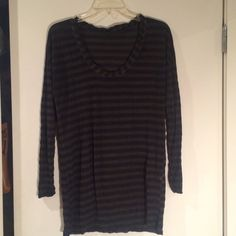 Zara green & navy striped tunic Green and navy striped tunic tee from Zara. Zara Tops Tunics