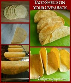 Working with 6 tortillas at a time, wrap in a barely damp cloth or paper towel and microwave on High until steamed, about 40 seconds. Lay the tortillas on a clean work surface and coat both sides with cooking spray. Drape each tortilla over two bars of the oven rack. Bake at 375°F until crispy, 7 to 10 minutes.