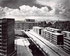 Multifamiliar Juárez (Centro Urbano Presidente Juárez), Calle Orizaba, Roma Sur, Cuauhtémoc, México DF 1952 (destruido)  Arqs. Mario Pani y Salvador Ortega Flores  -   Multifamilar Juarez (President Juarez Urban Center), Roma Sur, Cuauhtemoc, Mexico City, 1952 (destroyed)