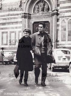 Romy Schneider & Alain Delon in Italy, 1961