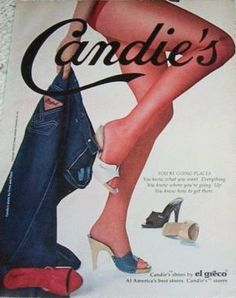 Everyone remembers the early 80s Candies ads in Seventeen Magazine!