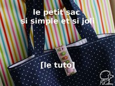 DIY - the ultra-easy little bag that can be used for everything - Pikebou Diy Bags Purses, Diy Tote Bag, Couture Sewing, Fitness Gifts, Practical Gifts, Fabric Bags, Little Bag, Baby Sweaters, Learn To Crochet