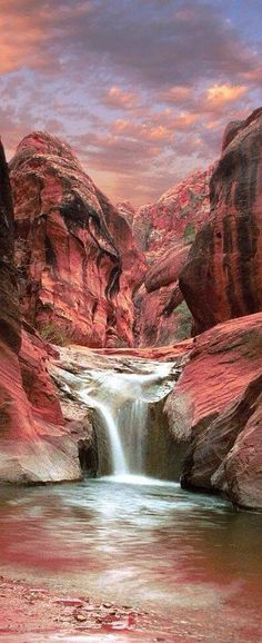 Acantilados rojos en Utah // Los acantilados rojos de Utah cubren un impresionante y colorido 45,000 acres. Los acantilados se forman de arenisca roja que les da su aspecto único y la sombra de las formaciones imponentes ofrece un respiro en el desierto caliente. El Red Cliffs Conservation Area ofrece un montón de espacio para los turistas para explorar y caminar. Hay un sitio arqueológico que ofrece las ruinas de pueblos americanos nativos, e incluso pistas del dinosaurio del período…