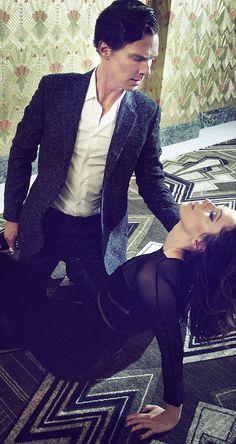 #BenedictCumberbatch and Rebecca Hall Harper's Bazaar Photoshoot