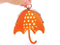 Orange beach umbrella mini coin purse by misala on Etsy, $27.90