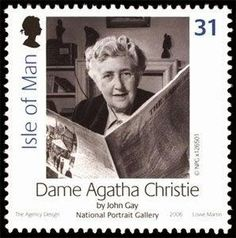 Detective Fiction on Stamps: Isle of Man: Agatha Christie (Hercule Poirot, Miss Jane marple britain Agatha Christie, Hercule Poirot, Book Writer, Book Authors, Films Cinema, Postage Stamp Art, Stamp Collecting, Writers, Pbs Mystery