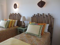 Beach style room - headboards