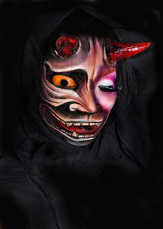 Secret of Hannya http://www.makeupbee.com/look.php?look_id=67654    One  Idea for this  halloween
