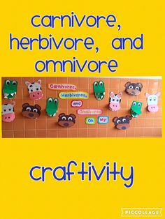 My students LOVED making these carnivores, herbivores, and omnivores! This has been my favorite display all year!