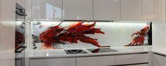 Custom Glass Kitchen Splashback