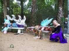 magnolia fawn the fairy napping at the texas renaissance festival