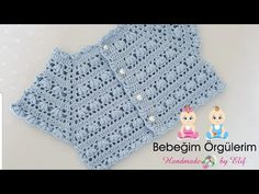 IG ~ ~ crochet yoke for girl's dress ~ finished yoke before joining the underarms Gilet Crochet, Crochet Yoke, Crochet Vest Pattern, Crochet Baby Cardigan, Baby Girl Crochet, Crochet Baby Clothes, Baby Knitting Patterns, Crochet For Kids, Crochet Stitches