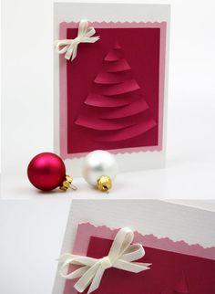 Originelle und schön pinke Weihnachtskarte - perfekt für die beste Freundin! https://www.deindiy.de/weihnachtskarte-fuer-freundin/ #deindiy #diy #basteln #weihnachtskarte
