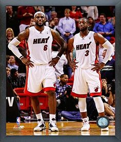 LeBron James  Dwyane Wade Miami Heat 2012 NBA Action Photo Size 12 x 15 Framed ** You can get additional details at the image link.