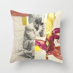 The Prayer Throw Pillow by Collagevallente - $20.00