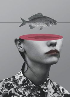 Photo collage and mixed media artwork by © Matthieu Bourel. °