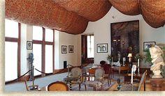 Biltmore House Salon Room: Fabric Ceilings