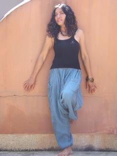 Harem Pants ...Yoga Pants ..Leasuire Pants ...Color Blue by Ablaa