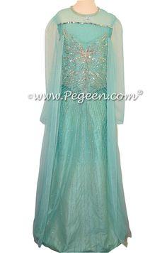 Flower Girl Dress Style 907 FAIRYTALE COLLECTION - the Blue Diamond Fairy - used for an Elsa Frozen Wedding