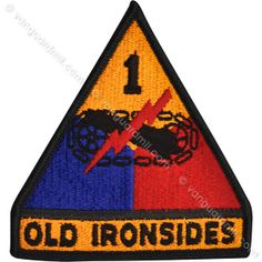Army Patch: First Armor Division - color
