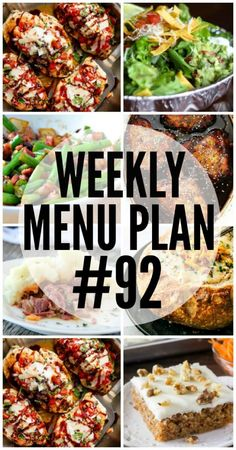 A delicious collection of dinner, side dish and dessert recipes to help you plan your weekly menu plan and make life easier! Weekly Menu Planning, Meal Planning, Dinner This Week, Dinner Tonight, Meals For The Week, Easy Meals, Freezer Meals, Healthy Dinners, Healthy Lunches