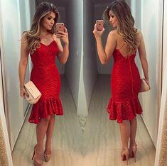 b1016e43fc Vestido vermelho Vestido Vermelho Curto
