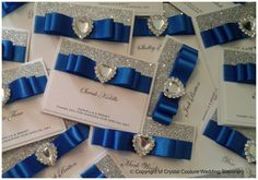 Royal blue and crystal heart
