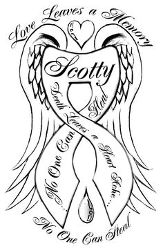 Choosing the Appropriate Angel Wings Tattoo Design Cancer Ribbon Tattoos, Remembrance Tattoos, Husband Tattoo, Tattoo For Son, Tattoos For Daughters, Band Tattoos, Dope Tattoos, Body Art Tattoos, Angels
