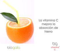 La #vitaminaC mejora la absorción de #hierro