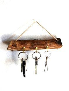 Wood Key Organizer Wall Key Holder Rack by BessiesCreations, $32.00