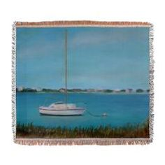 INLET DRIVE VIEW Woven Blanket