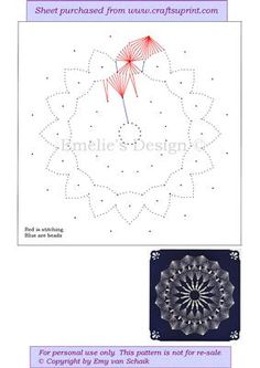 Paper Embroidery Patterns Spitze - Stitching with beads