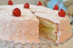 Tropisk hvit kake