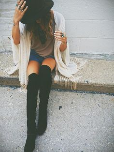Over the knee boot ideas.  #FW15 #FallFashion2015 #Trends2015 #Fall #Boots