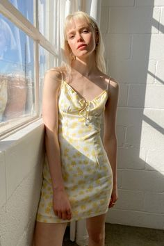 The Spring dress of our dreams. Non-Stretch Woven Fabric Fully Lined Keyhole Detailing with Bow-Tie Closure Adjustable Spaghetti Straps Rayon Linen Imported Alana is wearing size Small This sale item is final. No returns or exchanges will be accepted. Love Street Apparel, Sustainable Companies, Minimal Chic, Woven Fabric, Daisy, Summer Dresses, Spaghetti Straps, How To Wear, Bow