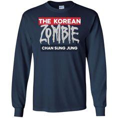 Korean Zombie Long Sleeve T-Shirt. Zombie Shirt, Pet Names, Hoodies, Sweatshirts, Dog Mom, Purple And Black, Display Block, Long Sleeve Shirts, V Neck