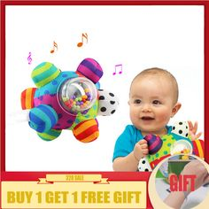 Cute Ball Rattle Ring Early Educational Toy For Newborn Baby Kids Child Gift C