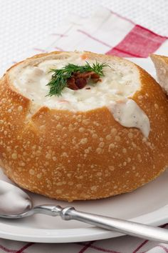 Italian Bread Bowls Recipe by gay Great Recipes, Soup Recipes, Cooking Recipes, Favorite Recipes, Recipies, I Love Food, Good Food, Yummy Food, Pan Relleno