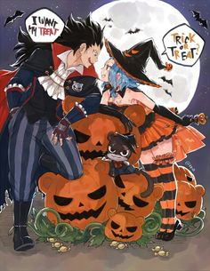 Levy, Gajeel e Lily - Fairy Tail Halloween Fairy Tail Levy, Fairy Tail Ships, Fairytail, Jellal, Nalu, Anime Halloween, Fete Halloween, Happy Halloween, Fairy Tail Family