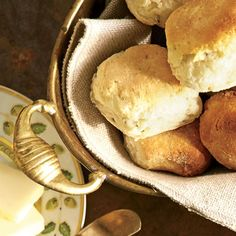 Thanksgiving Rolls & Breads: Herb-and-Cream Biscuits Recipe