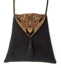 Gypsy Boho Bag  Piperscrossing Boho Bag Black by piperscrossing, $40.00