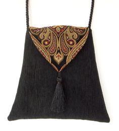 Gypsy Boho Bag  Piperscrossing Boho Bag Black by piperscrossing, $40.00
