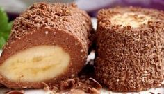 Cottage cheese-chocolate dessert with banana / Culinary Universe Bulgarian Recipes, Russian Recipes, Baby Food Recipes, Sweet Recipes, Cooking Recipes, No Cook Desserts, Delicious Desserts, Waffle Cake, Banana Dessert