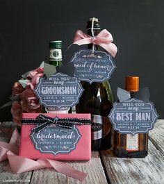 A Chalkboard Style to Invite Your Bridsmaids & Groomsmen to Join Your Wedding Party