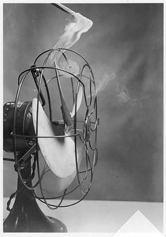 Harold Edgerton | [Motion Study of Smoke Vortices Caused by Electric Fan] | The Met